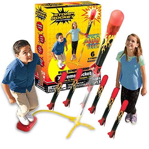Stomp Rocket The Original X-Treme Rocket Launcher, 6 Rockets and Air Rocket Launcher - Outdoor Rocket STEM Gift for Boys and Girls Ages 9 Years and Up - Great for Outdoor Play