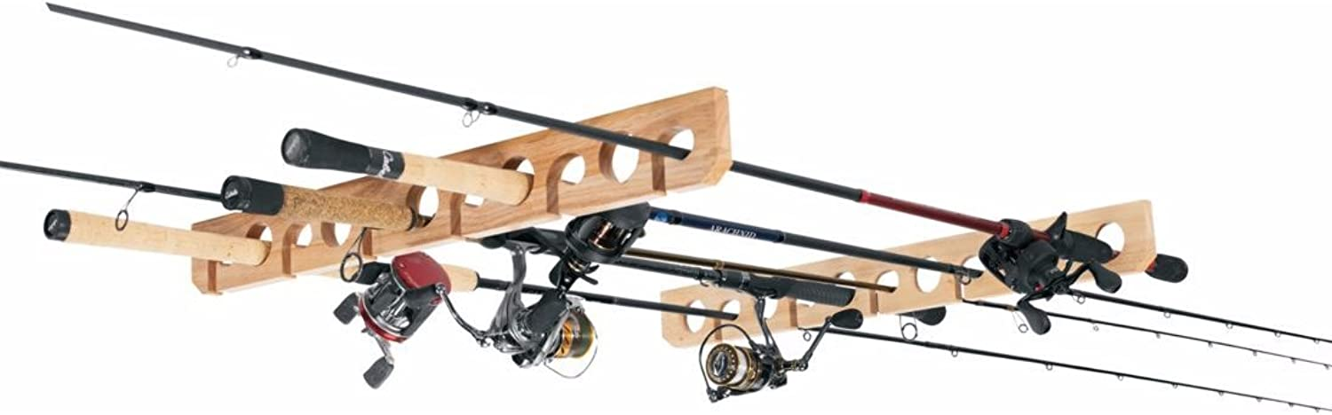 Overhead Ceiling Fishing Pole Rod Rack