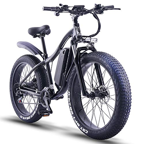 ride66 Bicicletta Elettrica pedalata assistita Adulti Uomo Donna Fat ebike 1000w 48V 16Ah (Nero)