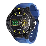 100m Water Resistant Luminous Scuba Diving Watch with Digital and Analog Movements, Adjustable Strap, for Men and Women