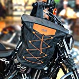 Sresk Expandable Motorcycle Travel Luggage Sissy Bar Bag Tail Bag Motorcycle Backpack: Weather Resistant Duffle Bag with Sissy Bar Straps (Balck)