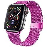 Correa para Apple Watch Band Correa de metal de acero inoxidable Milanese Loop Pulsera para iWatch S...