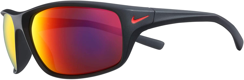 Nike EV1134-006 Adrenaline Sunglasses Matte Black Frame Color, Grey with Infrared Mirror Lens Tint