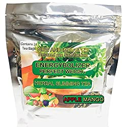 commercial Energy Volizer Perfect Weight Herbal slimming tea with apple and mango flavors. Natural colon cleansing … the slimming tea