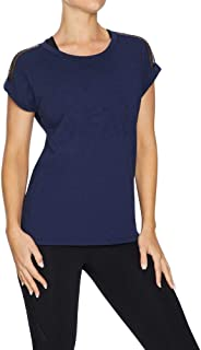 Rockwear Activewear Women's Logo Front Mesh Panel Tee from Size 4-18 for T-Shirt Tops