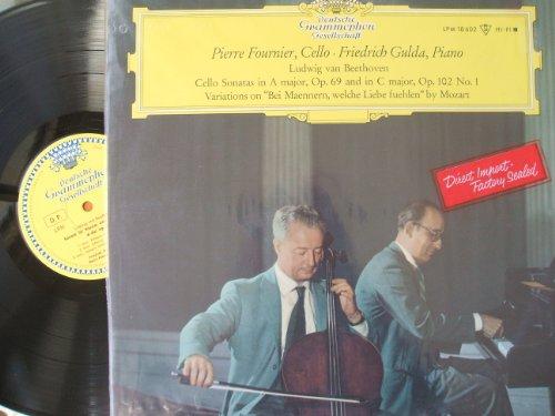 """DGG """"TULIP""""- PIERRE FOURNIER & GULDA- BEETHOVEN- CELLO SOANTAS- VARIATIONS"""