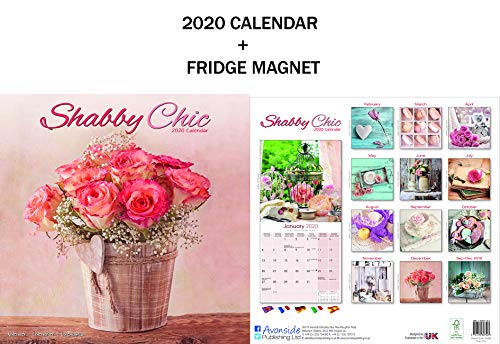 CALENDARIO SHABBY CHIC 2020 + METAL MACHINE FRIGORIFERO