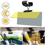 JoyTutus 2イン1 車用サンバイザー フロントガラス 360°アップグレードサンバイザー 日中/夜間調節可能 カーバイザー エクステンダー サンブロッカー カーバイザー サンシェード アンチグレアUVフォギー 雪から保護 車 SUV用