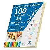Dohe 30190 - Pack de 100 papeles A4, 80 g., color amarillo pastel