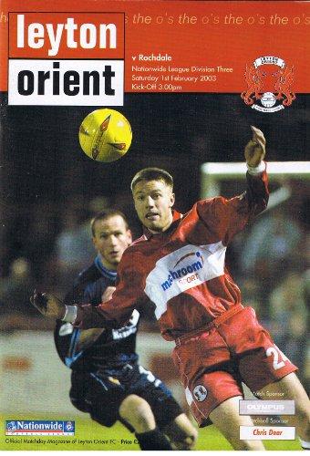 (Leyton) Orient v Rochdale FC 01/02/03 (Brisbane Road) football programme
