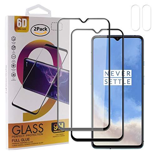 Guran Protector de pantalla de cristal templado para Oneplus 7T, cobertura completa,...