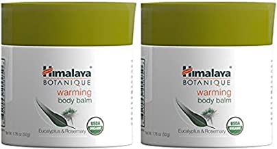 Himalaya Organic Warming Body Balm with Eucalyptus, Rosemary and Coconut Oil for Muscle and Joint Pain Relief 1.76 oz/50 g (2 PACK)