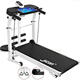 MQIQI Treadmill Folding Multifunctional Mechanical, Up To 150 Kg, Tablet Holder,for Home And Office Walking/Twisting Waist/Sit-Ups/Pulling Rope