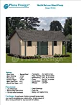 16' x 24' Guest House / Garden Storage Shed with Porch Plans - Design #P81624