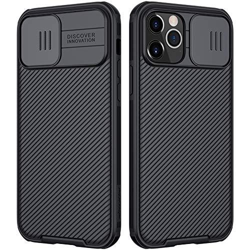 Nillkin CamShield Kompatibel mit iPhone 12 Pro Max Hülle, Handyhülle mit Kameraschutz & Anti-Rutsch Stoßfest Kratzfest Schutzhülle für iPhone 12 Pro Max Hülle Schwarz