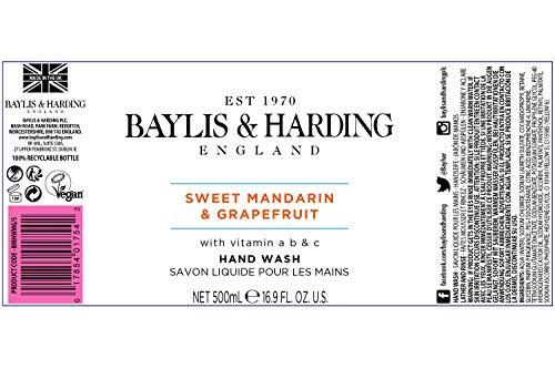 Baylis & Harding Sweet Mandarin and Grapefruit Hand Wash, 500 ml, Pack of 3 (Packaging May Vary)
