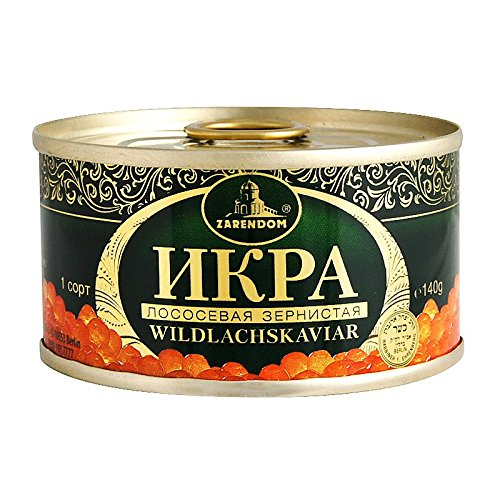 Kaviar - Zarendom Gorbuscha Lachskaviar Klassik 140 g Dose - roter Kaviar - caviar - икра
