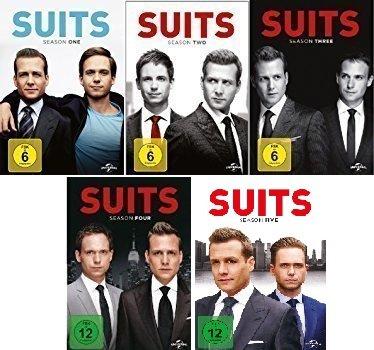 Suits - Season 1-5 im Set - Deutsche Originalware [19 DVDs]