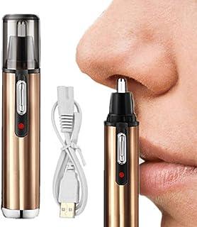 Nanssigy Cortapelos Nariz y Orejas,USB Recargable Recortador de Nariz,Nose Hair Trimmer,Sin Dolor, para hombres y mujeres,...
