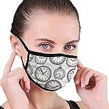 LREFON Vintage Taschenuhr mit Zahlen darauf Antike Design Chronometer Altmodischer Druck Der Gesichts- und Mundschutz schützt Sie vor Staub und seltsamen Gerüchen