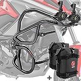 Set Defensas + Faro Adicional para Honda NC 750 X / 700 X 12-20 Negro + K3