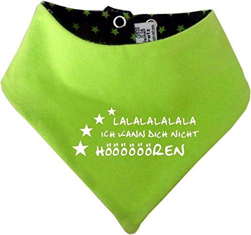KLEINER FRATZ KLEINER FRATZ Kinder Wendehalstuch Sternchen (Farbe navy-lime) (Gr. 1 (0-74) Lalalalalalala ich kann dich nicht hören