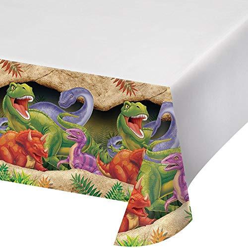 Creative Conversion Dessus de Table Plastique avec Motif de Dinosaures, 137,2 x 274,3 cm