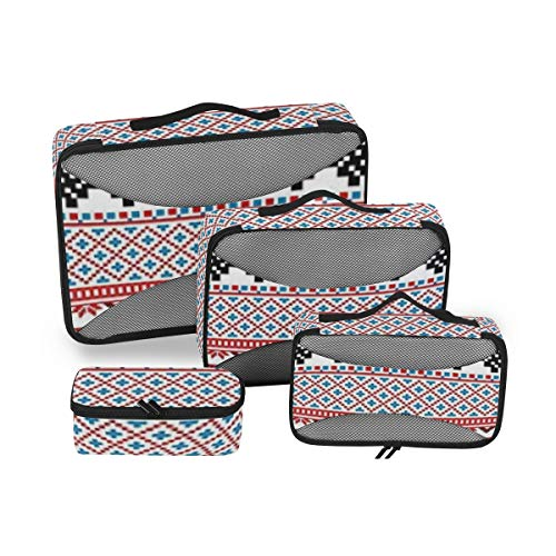 Ancient Decor 4pcs Toiletry Bag Travel Cosmetic Organizer,Hanging Toiletry Kit for Women and Men