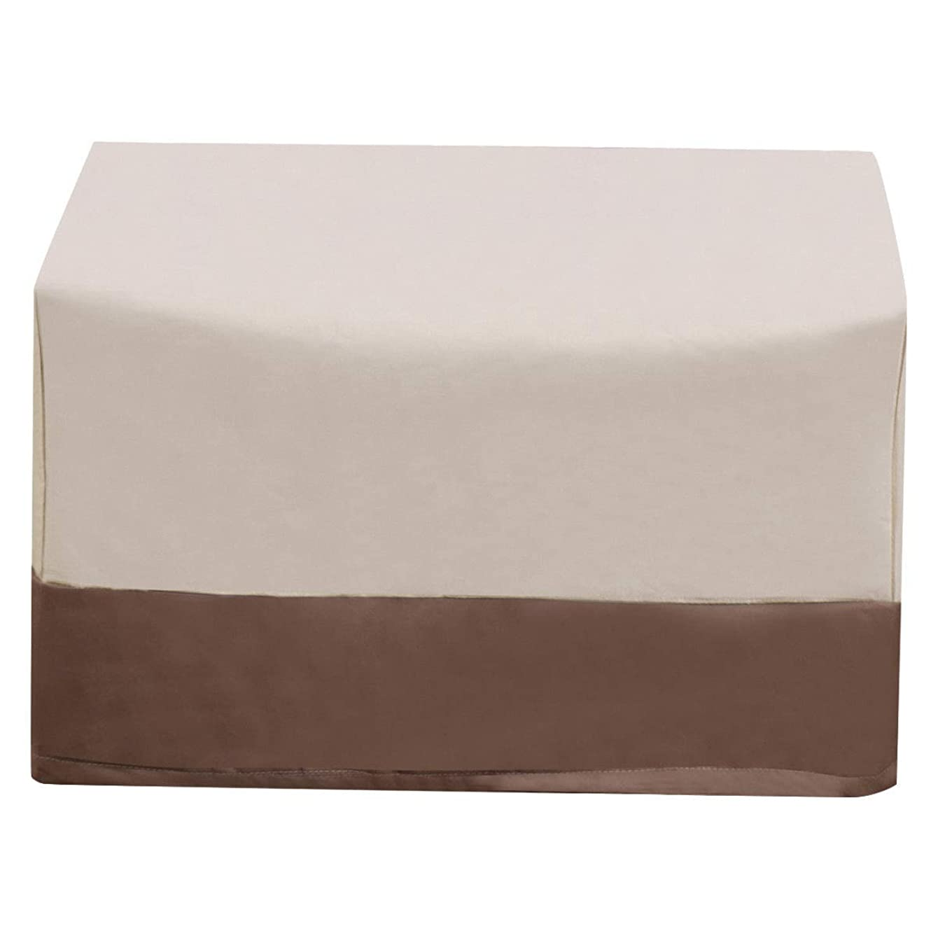 TG888 Waterproof Air Conditioner Cover Outdoor Rectangle Furniture Protection Heavy Duty Beige & Brown