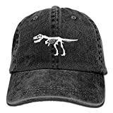Hoswee Unisex Kappe/Baseballkappe, Men&Women T Rex Dinosaur Skeleton Adjustable Vintage Washed Denim...