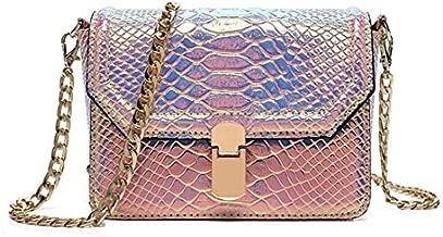 Marchome Women Hologram Snake Skin Pu Leather Crossbody Shoulder Bag