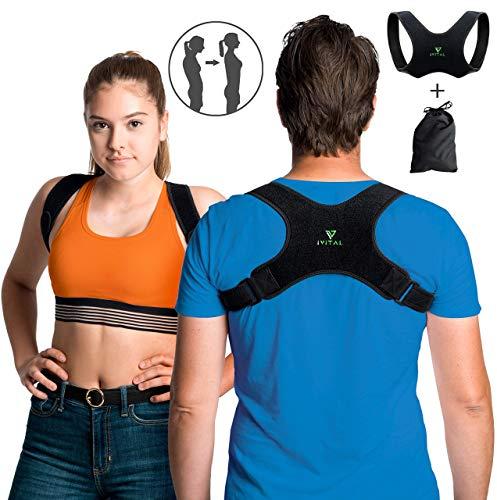 IVITAL Haltungskorrektur für Männer und Frauen unsichtbar unter Kleidung Dank der ultradünnen Stoff. Designed in Austria
