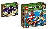 Steinchenwelt Lego Minecraft 21151 - Juego de 2 figuras de la última batalla y 21152