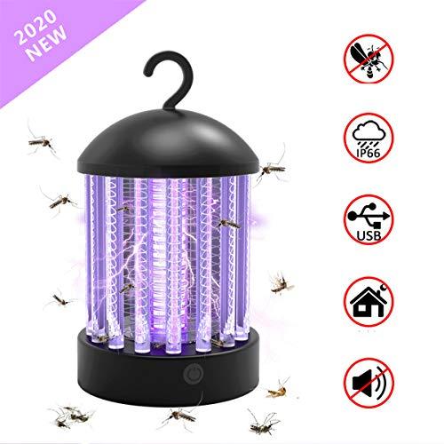 RNIMA 2 in 1 Beweglichem Moskito Killer Licht UV-Bug Zapper Camping Lantern - IP67 Wasserdichten Zelt-Licht Insektenvernichter USB Aufladbare, 3 Beleuchtungsart Und Haken Für Indoor & Outdoor