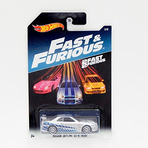 Hot Wheels Nissan Skyline GT-R (R34) - 2FAST 2FURIOUS - (long card)