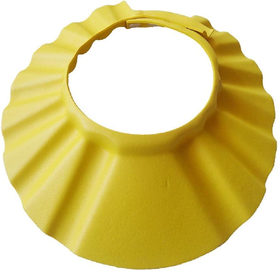 Shuiniba Baby Safe Shampoo Shower Bathing Protection Soft Shower Cap Hat Wash Hair Shield for Children Kids (Yellow)