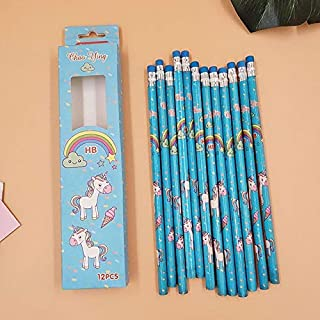 Standard Pencils - 12 pcs/set Kawaii Cartoon Pencil HB Sketch Items Drawing Stationery Student School Office Supplies for ...
