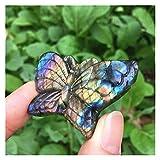 Cristales Naturales Piedras de Mariposa de Cristal Pulido de labradorita Azul Natural para la Venta Recogido a Mano (Color : Butterfly)