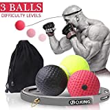 Boxing Reflex Ball,Ultimate Reflex Training Equipment Ball with Headband, Boxing Gear Punching Fight Speed Ball with 3 Difficulty Level,Hand Eye Coordination Reaction Boxing Set for Kids and Adults