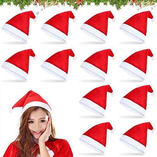 Cappello bambino Natale,Cappello di natale,Cappello da Babbo Natale ,Cappello di natale morbido,Cappello da babbo natale per adulti,Bambini cappello di Natale,Cappello da festa di Natale (A-12a)