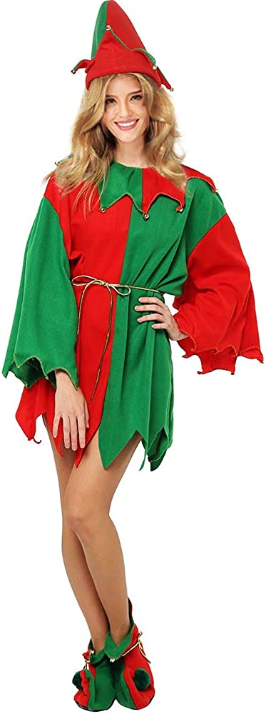 EraSpooky Adults' Christmas Costumes Costume Santa Wome Some Brand new reservation Elf