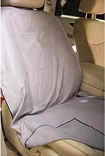 Run's Done Protective Car Seat Cover (Moisture-wicking, Machine Washable, Non-Slip Back, No Straps Needed) Gray