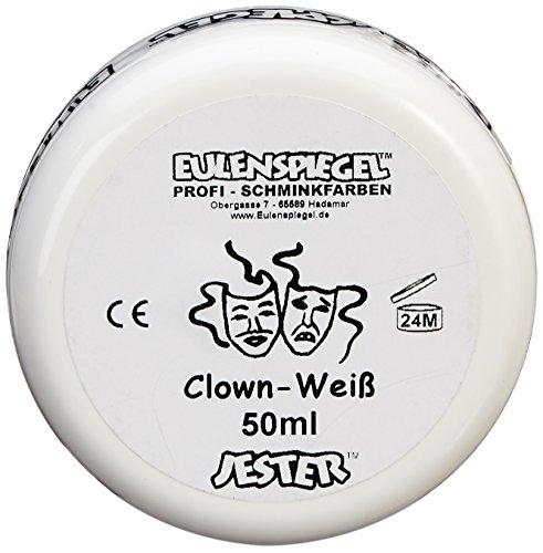 Eulenspiegel 500507 - Clown-weiß, 50 ml, Creme Schminke auf Fettbasis