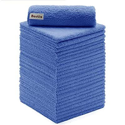 Bautia Microfiber Cleaning Rags for Housekeepin...