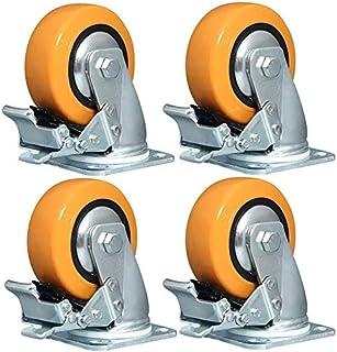 Casters X4 zwenkwielen – met remmen, wielen van polyurethaan (4/5/6/8/in), industriële stand, sterke belasting, slechts wi...