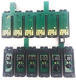 Piezas de impresora nuevas y duraderas Starcolor 6 colores T0851-T0856 T0821N-T0826N T0791-T0796 Chip Ciss ARC apto para impresora Epson 1390 T50 Sistema de suministro continuo de tinta (color: T60 85