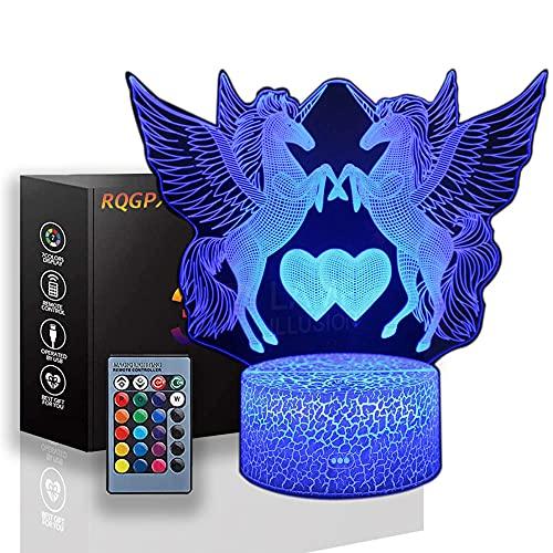 Lámpara de ilusión 3D Unicornio Adolescente Niña Regalos Regalo Perfecto para Niños y Decoración de Habitación Personajes Darth Vader