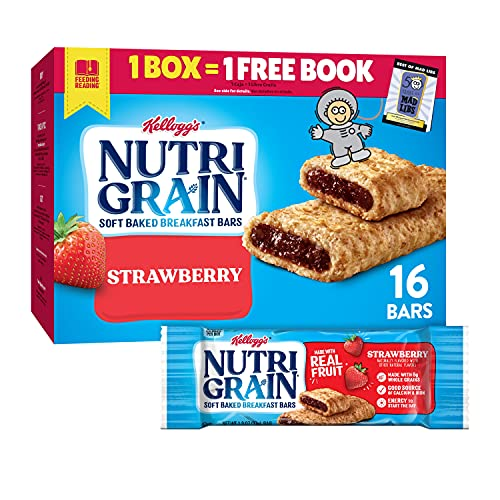 Nutri-Grain Soft Baked Breakfast Bars, Made with Real Fruit and Whole Grains, Kids Snacks, Value...