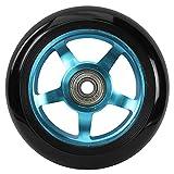 213 Scooterwheel - Juego de 2 ruedas para patinete de buje de aluminio, unisex, color azul, 100 mm