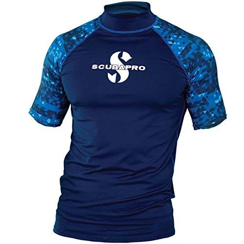 Scubapro AEGEAN Rash Guard Kurzarm Herren Slim Fit UV-Shirt Collection 2017 (L)